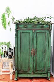 ascp antibes green armoire painted and distressed