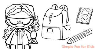 Now you can easily combine learning with excellent fun and observe how great effect your child will achieve. Back To School Coloring Pages Simple Fun For Kids