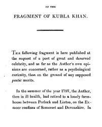 kubla khan wikiwand  preface of kubla khan