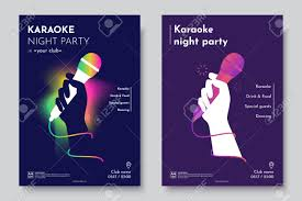 invitation flyer karaoke party invitation flyer template silhouette of hand with