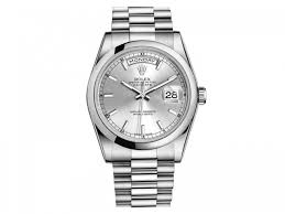 rolex day date president silver dial platinum 36mm 118206sip rolex 118206sip