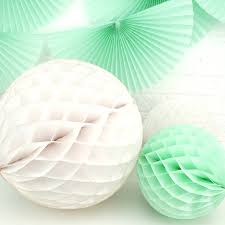 Decorative Items With Paper Tissue Paper Honeycomb Ball Decoration By Peach Blossom