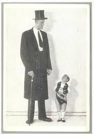 Albert Kramer Giant and Seppetoni Midget Modern Postcard / HipPostcard