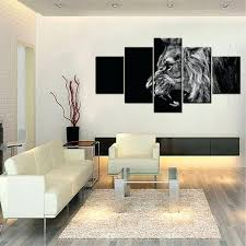 lion king room decor 5 panels lion king canvas art modern abstract painting wall pictures for lion king room decor
