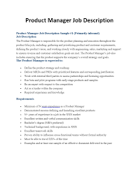 Product Manager Job Description Product Manager Job Descriptions ProductManagement 1