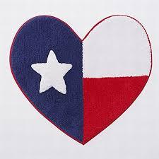 summer heart shaped americana cotton bath rug