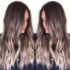 Balayage Highlights Ombre Dark Brunette Hair