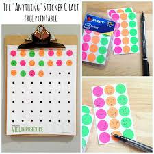 Potty Training Sticker Chart Printable The Anything Sticker Chart Free Printable Make And Takes