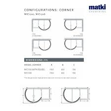 Unique Curved Shower Enclosures Uk Matki Original Walkin Corner Inside Decorating