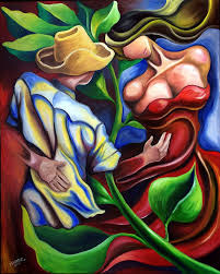 cuban art 30 x24 original oil painting on stretched canvas