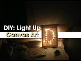 on lighting up wall art with gift idea diy light up canvas art youtube