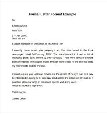 a formel letter printable formal letter template format sample with regard to how to