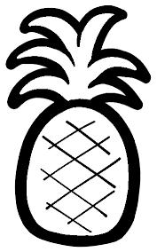 パイナップルのイラスト 保育園幼稚園のおたよりフリー素材