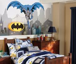 Superheroes Bedroom White Boys Bedroom Looks Very Elegant With Batman Wall Sticker And