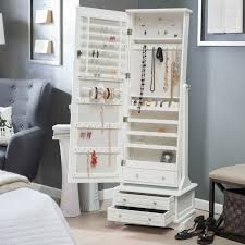 smart storage ideas for your bedroom jewelry house mirror floor standing armoire cabinet 3