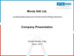 minda sai ltd (leading manufacturer of automotive wiring harness Automotive Wire Harnesses Engines at Automotive Wiring Harness Manufacturers In India