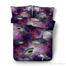 3d printed purple shark bedding set twin full queen king size bedspread bedclothes duvet covers 3 600tc comforter set animal king size comforter sets kids