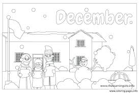 Welcome December Coloring Pages Coloring Pages Outline Months