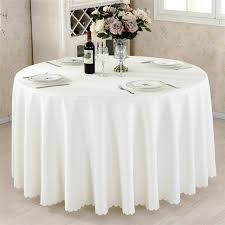 mordern polyester round table cloth
