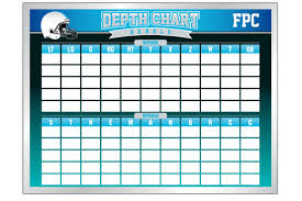 Curious Printable Football Depth Chart Template Nfl Depth