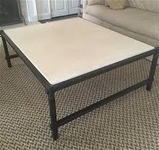 steel and limestone coffee table