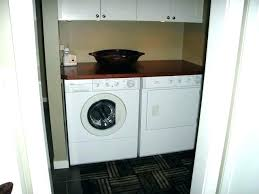 dryer on top of washer counter over load decor folding table for and diy