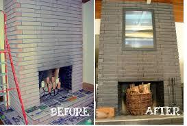 staining fireplace brick