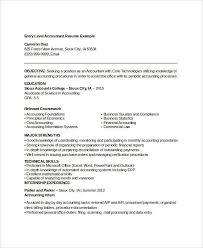 Example Of Accounting Resume Enchanting 48 Printable Accountant Resume Templates PDF DOC Free