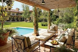 Backyard Designs With Pool And Outdoor Kitchen Best Patio And Outdoor Space Design Ideas Photos Architectural Digest