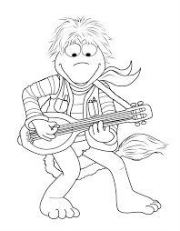 Coloring pages fraggle rock fraggle rock colouring page fraggle rock colouring page
