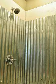 galvanized corrugated metal shower