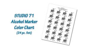Blick Studio Markers Color Chart Studio 71 Alcohol Marker Color Chart Set Of 24