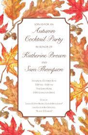 Fall Party Invitations Inviting Company