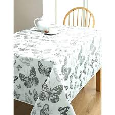 round wipe clean tablecloth oilcloth rectangle flamingo cotton fabric grey