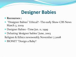 Designer Babies And Religion