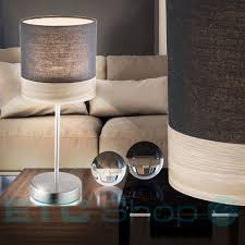 design table lamps made of textile and wood for the office sy bild 2