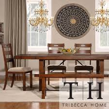 Swindon Rustic Oak Turnbuckle Extending Dining Set by iNSPIRE Q Classic by  iNSPIRE Q