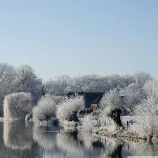 Frosty Landscape Ultra HD Desktop ...