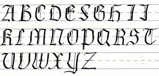 gothic script uppercase letters