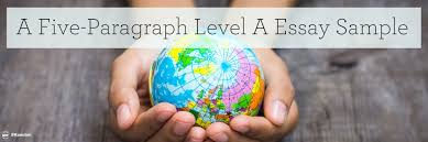 a five paragraph level a essay sample institute for excellence   pdf