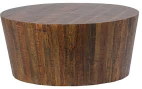 set a centerpiece for your seating ensemble that s simply eye catching with this prisma round natural wood turned drum coffee table from project 62
