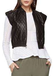 bcbg max azria bcbgmaxazria ace quilted faux leather vest