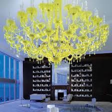 handmade blown glass chandelier chamomilla contemporary sculpt