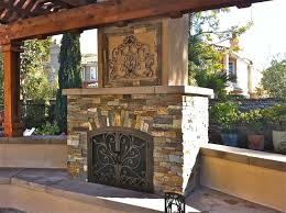 decoration outdoor stone fireplace design ideas from amazing wall extention decoration for garden source