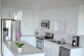 flawless white kitchen with laminate countertops