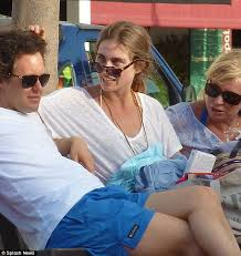 It's a casual Christmas Eve for David Lauren and Lauren Bush as they chill  out on the beach in St Barts   Daily Mail Online