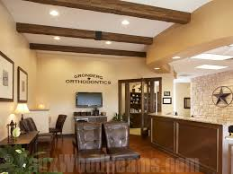 interior office designs. Rustic Beams Add A Charming Touch To An Orthodontist\u0027s Interior Office Design. Designs E