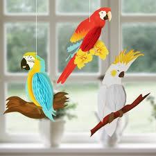 <b>3pcs</b>/<b>set 3D</b> Vivid Honeycomb Parrots For Hawaiian Beach Pool ...