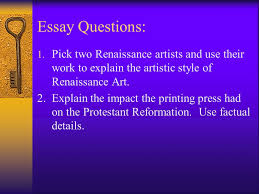 renaissance reformation unit review ch essay questions  2 essay
