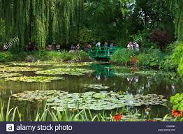 lily pond and bridge monets garden giverny normandy france